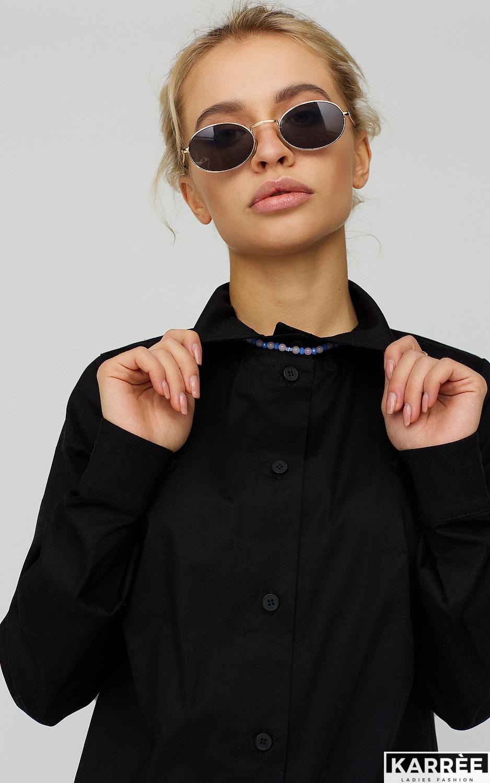 Платье-рубашка Джуди, Черный - фото 5