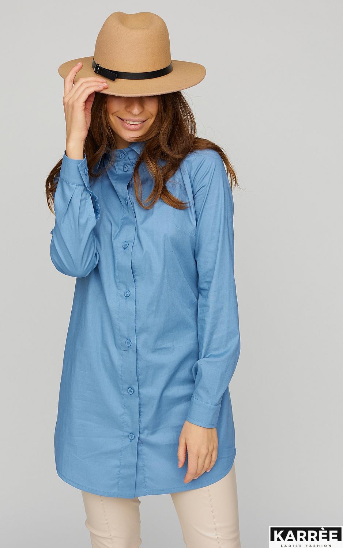 Платье-рубашка Джуди, Голубой