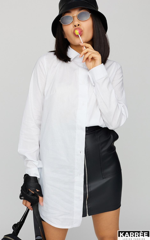 Платье-рубашка Джуди, Белый - фото 2