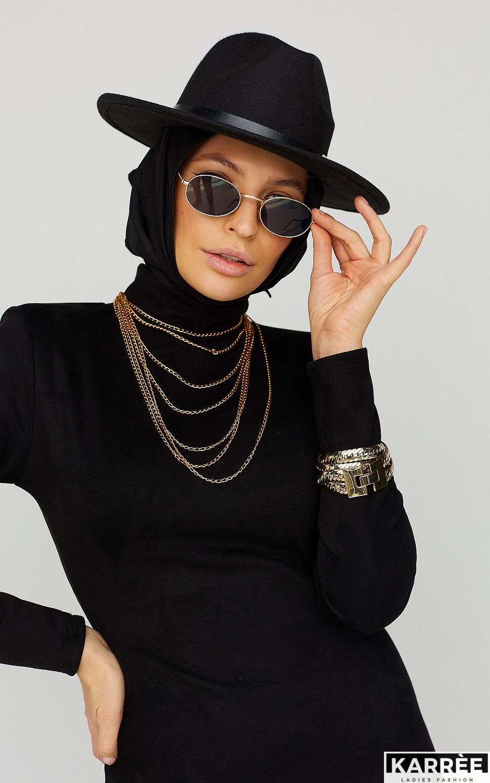 Платье Хилари, Черный - фото 4