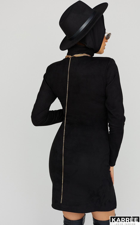 Платье Хилари, Черный - фото 5