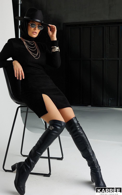 Платье Хилари, Черный - фото 6