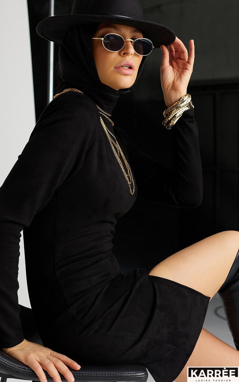 Платье Хилари, Черный - фото 7