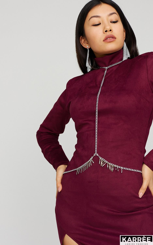 Платье Хилари, Марсала - фото 2