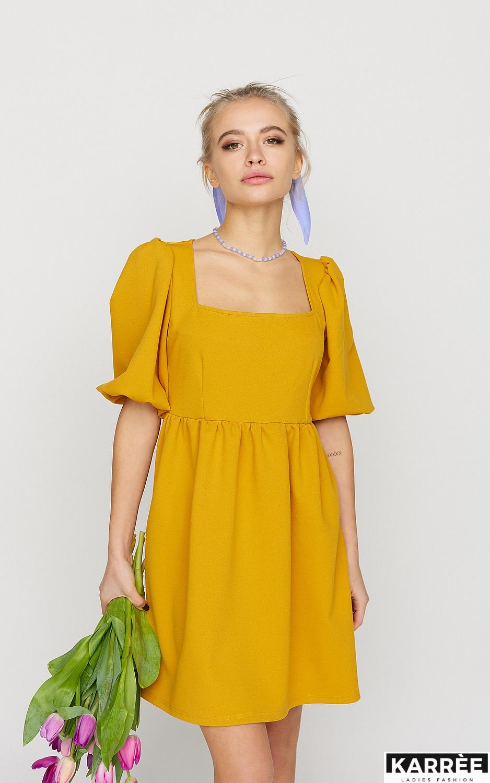 Платье Келли, Горчичный - фото 2