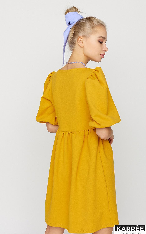 Платье Келли, Горчичный - фото 4