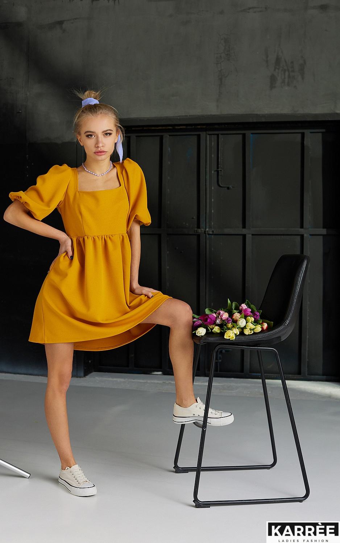 Платье Келли, Горчичный - фото 5