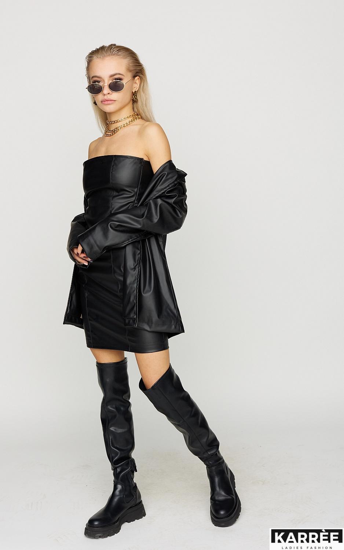 Платье Бренда , Черный - фото 2