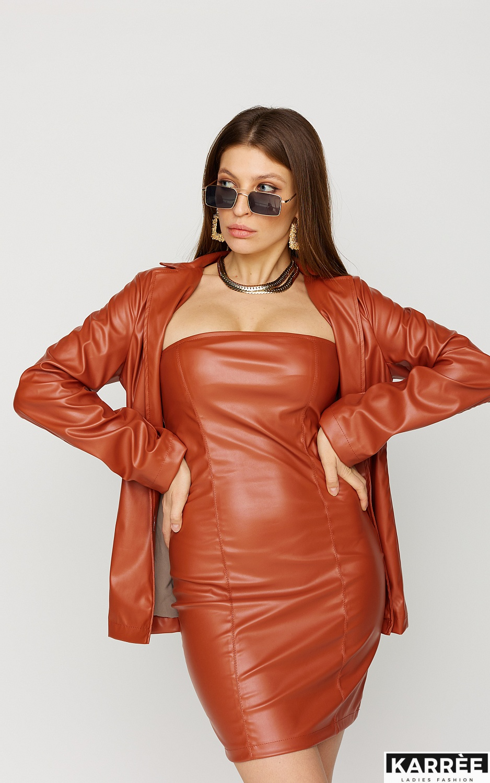 Платье Бренда , Рыжий