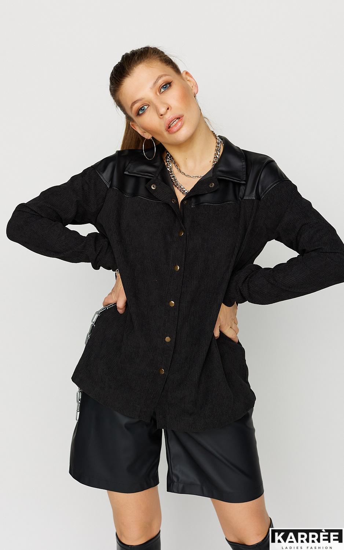 Рубашка Клэр, Черный - фото 2