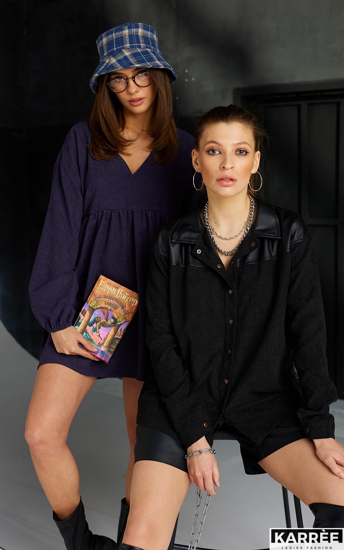 Рубашка Клэр, Черный - фото 4