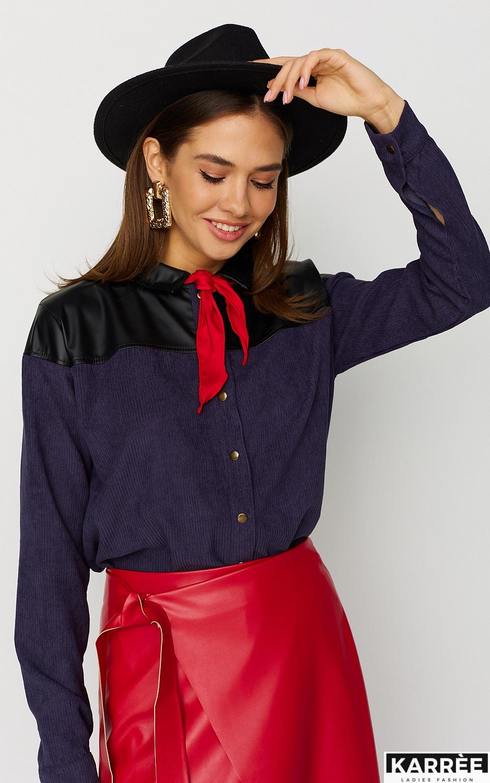 Рубашка Клэр, Темно-синий - фото 2