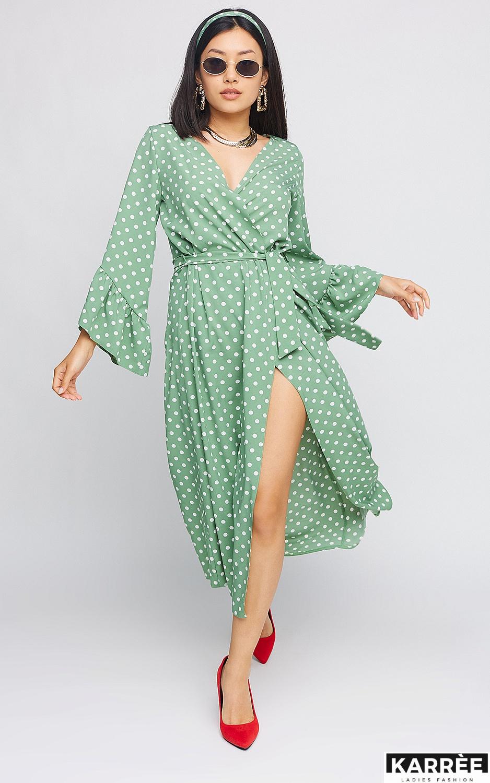 Платье Бетти, Оливковый - фото 2