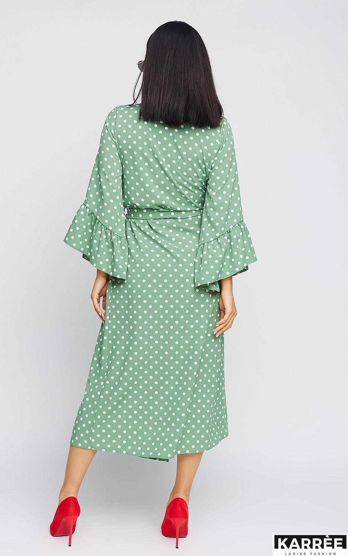 Платье Бетти, Оливковый - фото 4