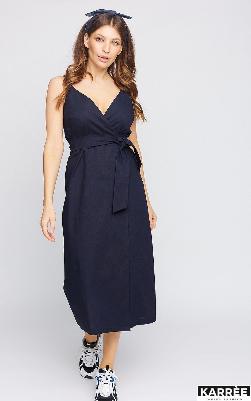Платье Сенди, Темно-синий - фото 1