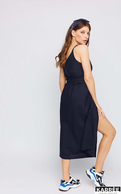 Платье Сенди, Темно-синий - фото 3