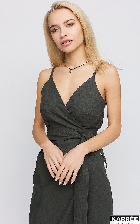 Платье Сенди, Хаки - фото 2