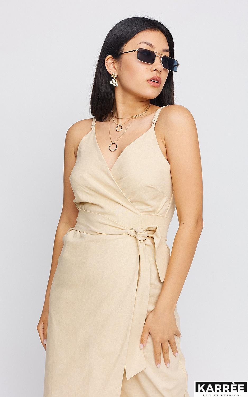 Платье Сенди, Бежевый