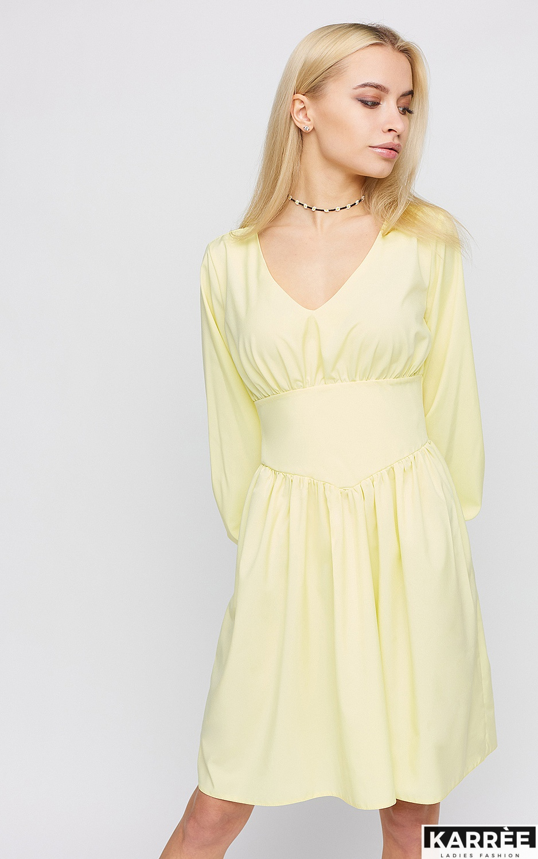 Платье Вэнди, Светло-желтый