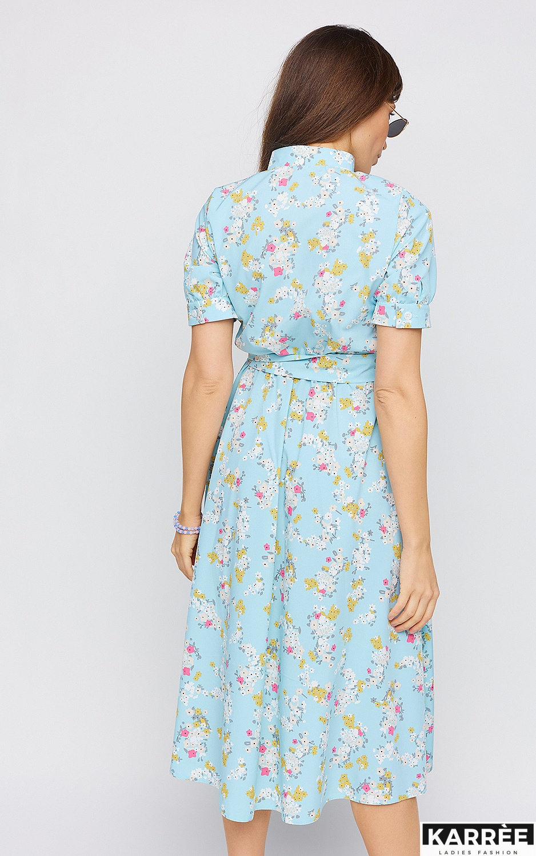 Платье Палмер, Голубой - фото 4