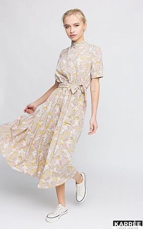 Платье Палмер, Бежевый - фото 1