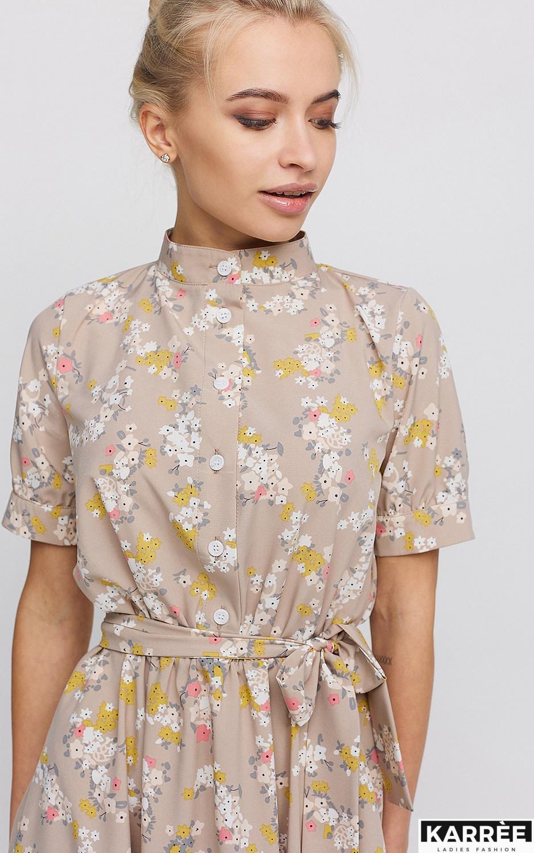 Платье Палмер, Бежевый