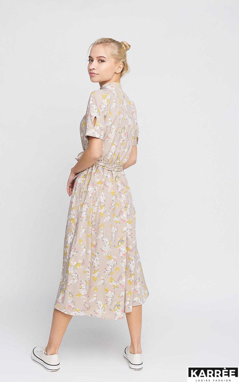 Платье Палмер, Бежевый - фото 3