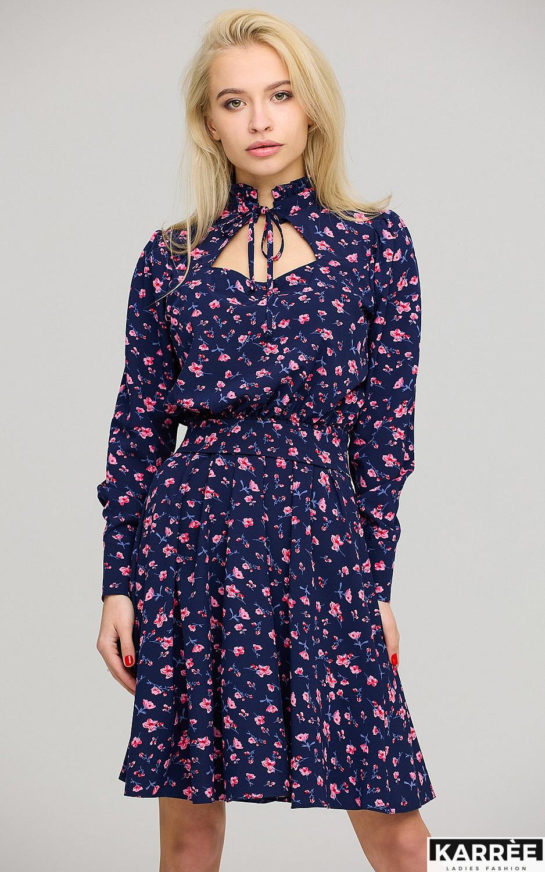Платье Айви, Синий