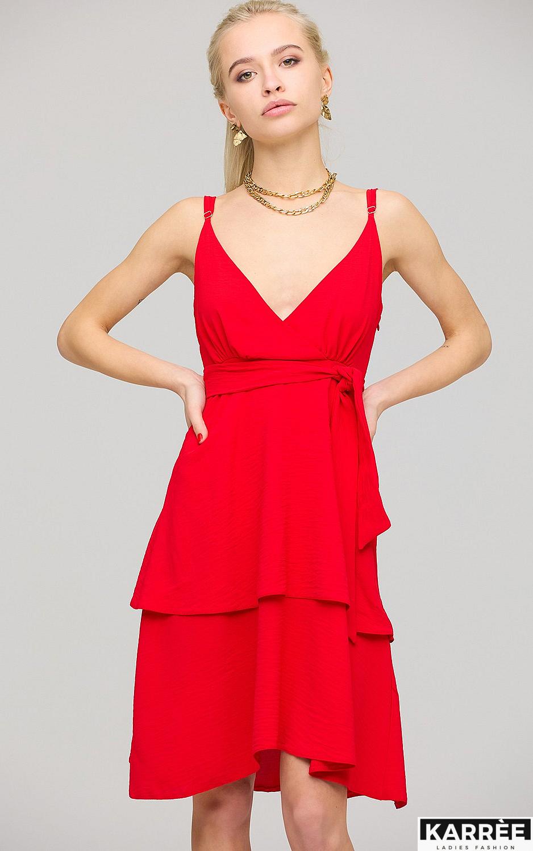 Платье Поппи, Красный