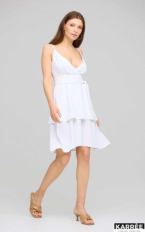 Платье Поппи, Белый