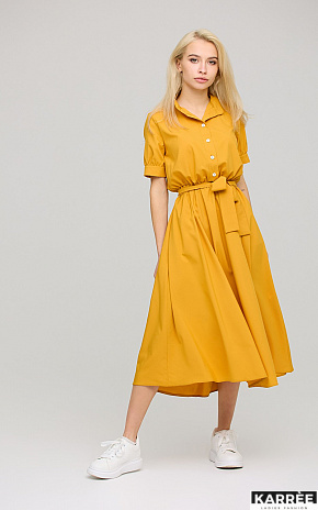 Платье Фейт , Горчичный - фото 1