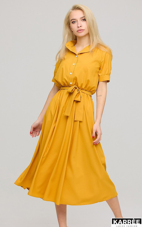 Платье Фейт , Горчичный