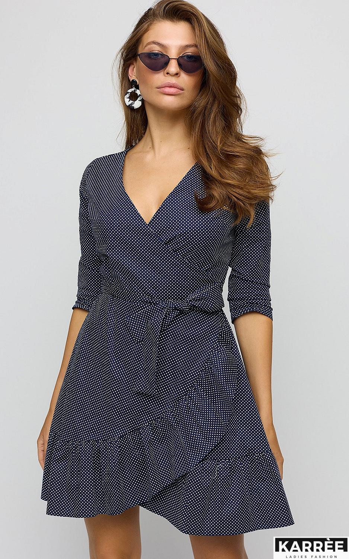 Платье Ирма, Темно-синий - фото 2