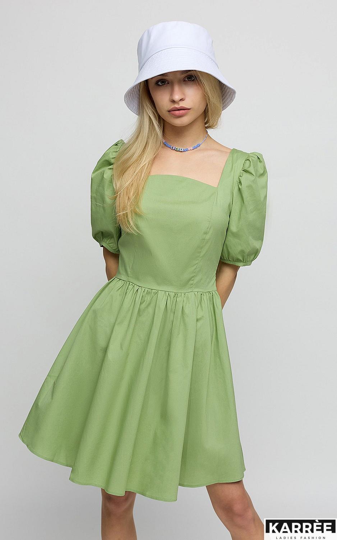 Платье Карлот, Оливковый - фото 2