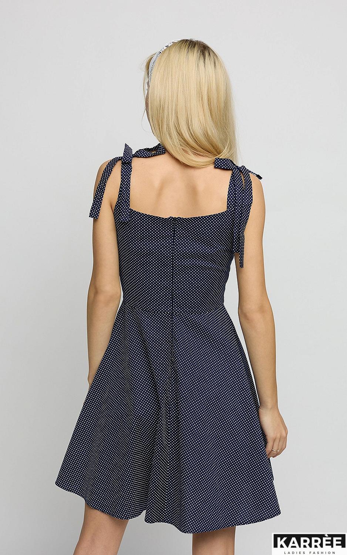 Платье Леона, Темно-синий - фото 3