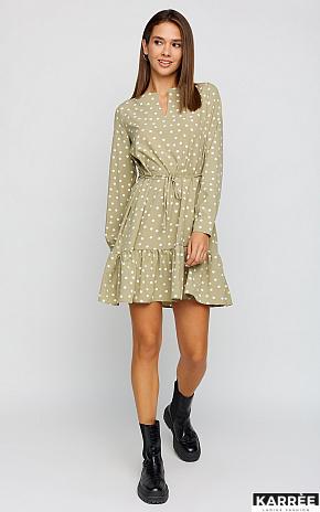Платье Белла, Оливковый - фото 1