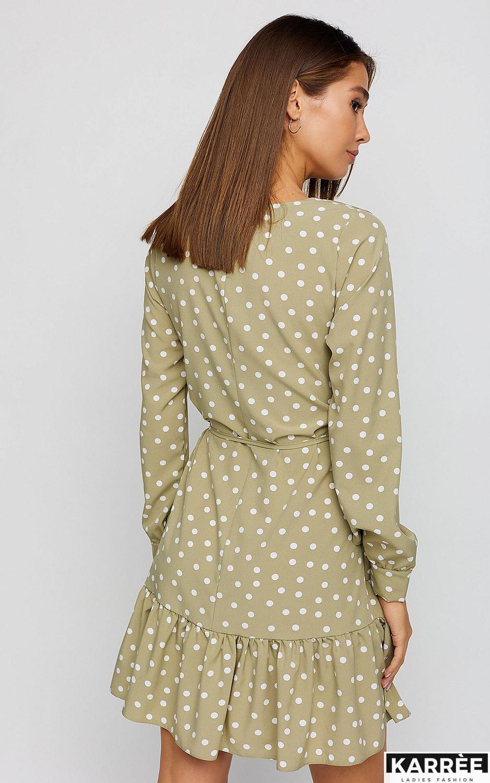 Платье Белла, Оливковый - фото 4
