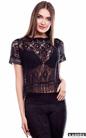 Блуза Камилла, Черный - фото 1