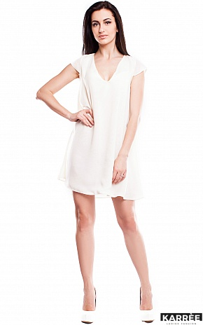 Платье Модесто, Молоко - фото 1